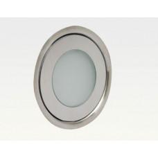0,42W LED Outdoor Mini-Design Einbau Leuchte rund Warm Weiß / 5lm IP67 Easy Stecker 12VDC