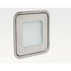 0,56W LED Outdoor Mini-Design Einbau Leuchte quadr. Warm Weiß / 5lm IP67 Easy Stecker 12VDC