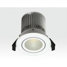 10W LED Spot weiß frosted Warm Weiß / 650lm IP44 230VAC