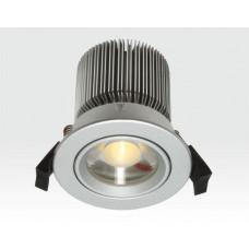 10W LED Spot silber klar Warm Weiß dimmbar / 650lm IP44 230VAC