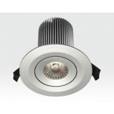 15W LED Einbau Leuchte silber Warm Weiß / IP44 230VAC