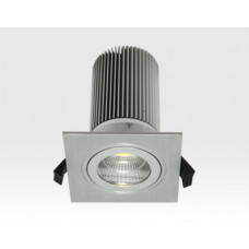 13W LED Einbau Leuchte silber Warm Weiß / IP44 230VAC
