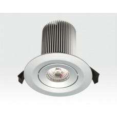 15W LED Einbau Leuchte silber Warm Weiß / 650lm IP44 230VAC