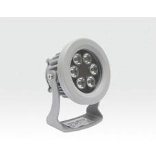 6W LED Strahler rund Neutral Weiß / 4000-4500K 480lm 230VAC IP65 60Grad