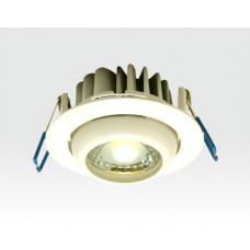 5W LED Einbau Spotleuchte weiß rund Neutral Weiß / 4000-4500K 300lm 230VAC IP44 65Grad
