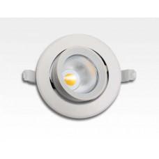 8W LED Einbau Spotleuchte weiß rund Neutral Weiß / 4000-4500K 525lm 230VAC IP40 90Grad