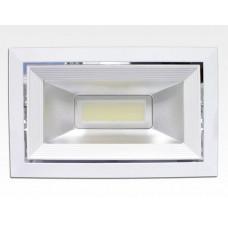 40W LED Einbau Spotleuchte weiß rechteckig Neutral Weiß / 4000-4500K 2400lm 230VAC IP44 120Grad