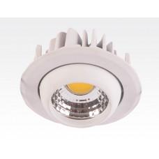 3W LED Einbau Spotleuchte weiß rund Warm Weiß / 2700-3200K 180lm 230VAC IP44 65Grad