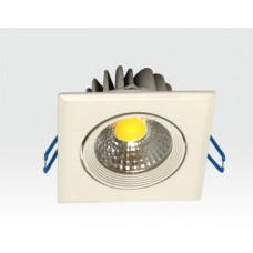 3W LED Einbau Spotleuchte weiß quadratisch Warm Weiß / 2700-3200K 180lm 230VAC IP44 65Grad