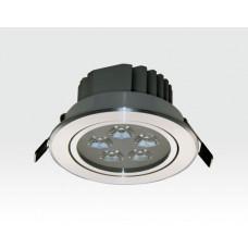 5W LED Einbau Spotleuchte silber rund Warm Weiß / 2700-3200K 325lm 230VAC IP40 120Grad