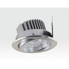 7W LED Einbau Spotleuchte silber rund Warm Weiß / 2700-3200K 455lm 230VAC IP40 120Grad