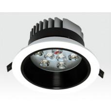 9W LED Einbau Spotleuchte weiß rund Warm Weiß / 2700-3200K 585lm 230VAC IP40 120Grad
