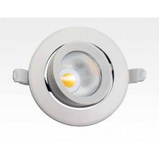 10W LED Einbau Spotleuchte weiß rund Warm Weiß / 2700-32000K 650lm 230VAC IP40 90Grad