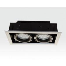 24W LED Einbau Spotleuchte silber rechteckig Warm Weiß / 2700-3200K 1560lm 230VAC IP40 120Grad