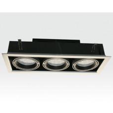 36W LED Einbau Spotleuchte silber rechteckig Warm Weiß / 2700-3200K 2160lm 230VAC IP40 120Grad