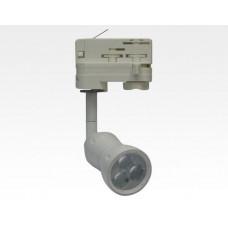 8W LED Fokus Mini 3-Phasen Schienen Leuchte 10-33Grad weiß / NeutralWeiß 4000K 450lm 230VAC