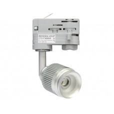 4W LED Fokus Mini 3-Phasen Schienen Leuchte 25-57Grad silber / NeutralWeiß 4000K 220lm 230VAC