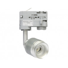 4W LED Fokus Mini 3-Phasen Schienen Leuchte 25-57Grad silber / WarmWeiß 3000K 220lm 230VAC