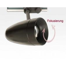 15W LED 3-Phasen Schienen Leuchte 24-60Grad einstellbar / schwarz Neutral Weiss 1100lm 230VAC