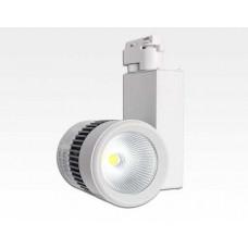 10W LED Leuchte weiss dimmbar für 3 Phasen Schienen 34Grad 650lm / Neutral Weiss 4000-4500K D92mm 230VAC