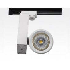 10W LED Leuchte weiss dimmbar für 3 Phasen Schienen 34Grad 668lm / Warm Weiss 3000K D92mm 230VAC
