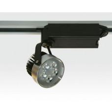 5W LED Schienen Leuchte für Drei-Phasen Schienen 30Grad / silber Neutral Weiss 300lm 230VAC