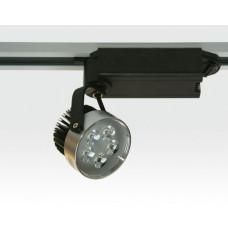 5W LED Schienen Leuchte für 3-Phasen Schienen 30Grad / silber Neutral Weiss 300lm 230VAC