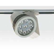 9W LED Schienen Leuchte für 3-Phasen Schienen / weiß Neutral Weiss 727lm 20Grad 230VAC