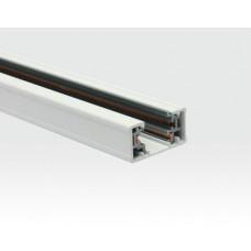 1m Schiene für Ein-Phasen Schienenleuchten Weiß / mit Anschlußstück und Endabdeckung