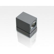 7W IP54 LED Wandleuchte Tageslicht Weiß Grau / 750lm Leuchtenkopf schwenkbar