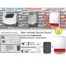 Universal Funk-Warnsignalgeber optisch/akustisch / Installationsfertig für Innen & Aussen