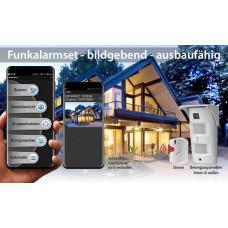 Smart Paket Aussenbewegungsmelder mit integrierter Kamera / App Steuerung Netzwerk Verbindung