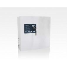 Netzteil Metallgehäuse 13,8VDC 1,2A opt. Akkupuffer Trafo 20VA / elektronische Sicherung Akku max.7,2.Ah