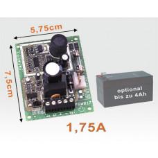 Netzteil Platine 13,8VDC 1,75A akkugepuffert / elektronische Sicherung