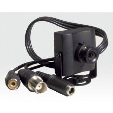 """1/3"""" s/w Mini Videokamera m. Audio F3,6mm / CCD 380 Zeilen 0,5Lux b. F2.0 AGC AES 12"""