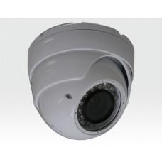 """1/3"""" SONY NewCCD True Day&Night Kamera Anti-Vandal EyeBall,weiss / 630TVL f2.8-11mm IR30m IP66 IK10"""