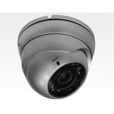 "1/3"" 960H D&N AntiVandal Kamera silber 2.8-12mm mit IR LEDs 20m / 700TVL IP66 12-24V AC/DC Effio-E"