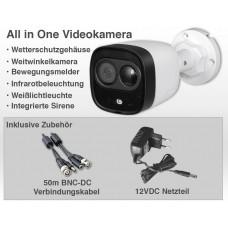 Erweiterungspaket 4 Teile intelligente Videokamera Dual-Detection / 5MP IP67 inkl. Netzteil Kabel Montagematerial
