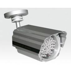 Infrarot-LED Scheinwerfer 60m 15Grad Aussen IP68 12VDC / 54 IR-LEDs Dämmerungsschalter