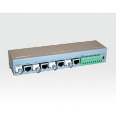Videoempfänger 4 Port CAT5 12VDC/RS485 / Überspannungsschutz  Noise Filter