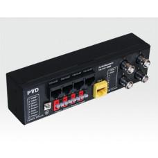 BALUN- 4fach Übertrager für Video/Spannung/Data über CAT5/RJ45 / FAST Klemmen für Spg, BNC für Video