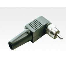 RCA Male Solderless Type, W/Spring, Right Angle