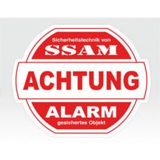 Alarm-Sticker groß