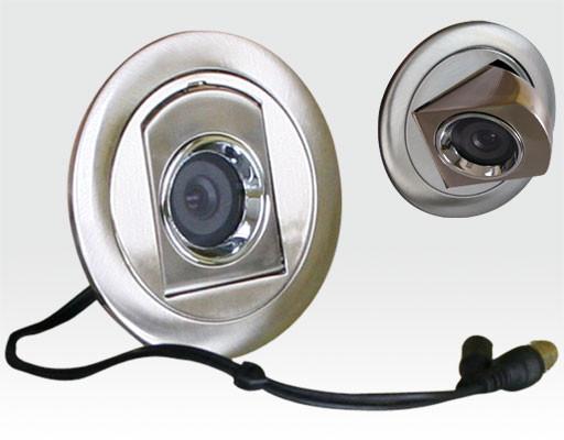 """1/3"""" SONY CCD Kamera Spotdesign Deckeneinbau chrom / 600TVL 0.4Lux f3.6mm"""