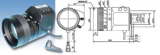 """1/3"""" Objektiv AI Zoom 5,7-34,2mm / 1/3"""" CS 5.7-34.2 F1.0-360 Manual Focus,"""