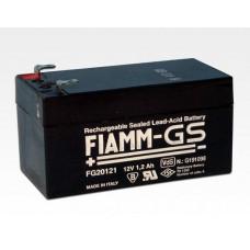 FIAMM Notstromakku Blei-Gel 12V 1,2 Ah / Wartungsfrei für Dauerpufferung