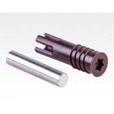 Einbohr Magnet 6mm braun