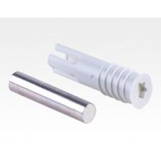 Einbohr Magnet 6mm weiß