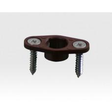 Einbauflansch für 8mm Einbohr Magnetkontakte Braun / VE 10 Stück