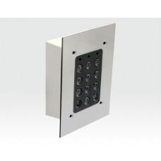Frontplatte Edelstahl mit Einbaugehäuse / für ASCOXP*EXxP Serie